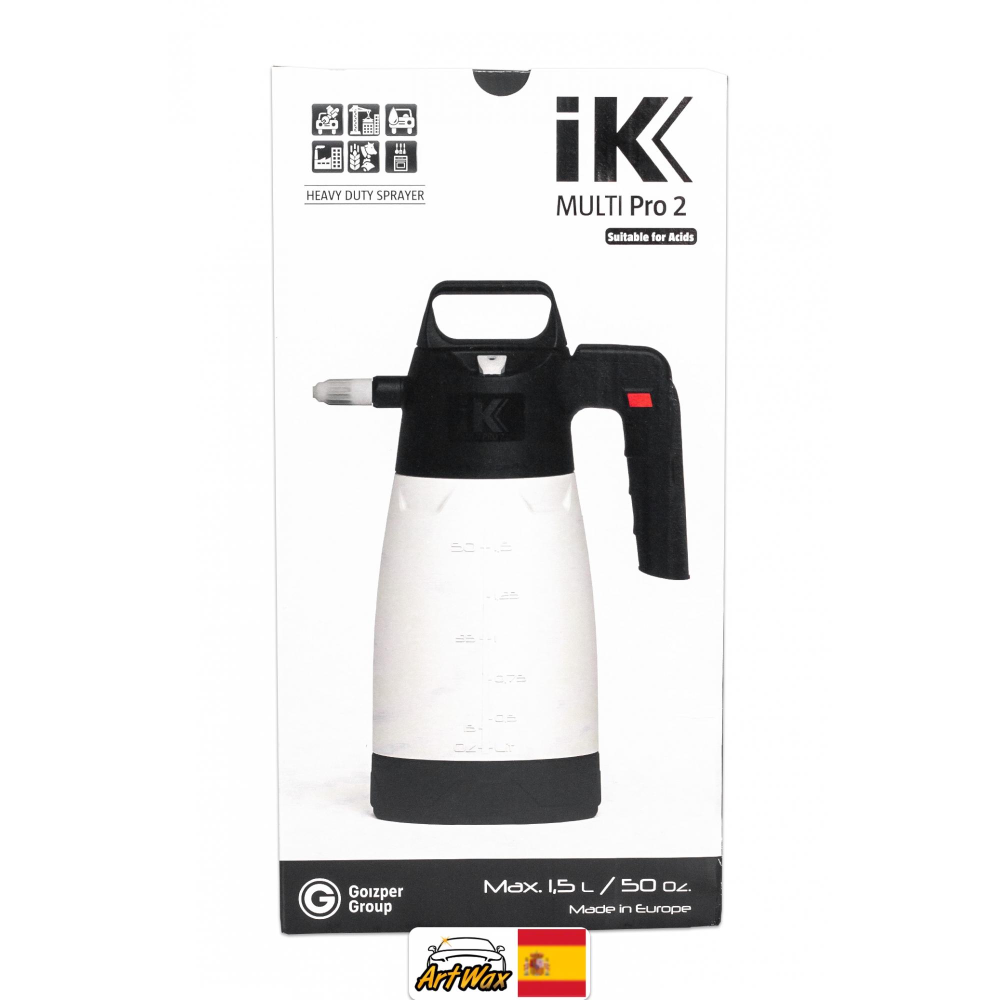 IK Multi Pro 2 - Pulverizador Resistente a Ácidos e Químicos Agressivos 1,9L