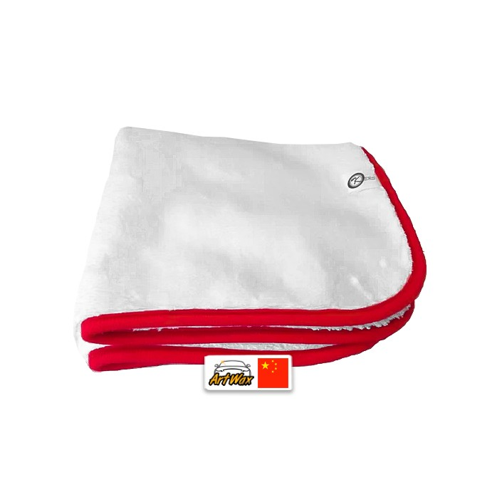 Kers Pano De Microfibra Ultra Plush Branco 40x40cm - 1000gsm