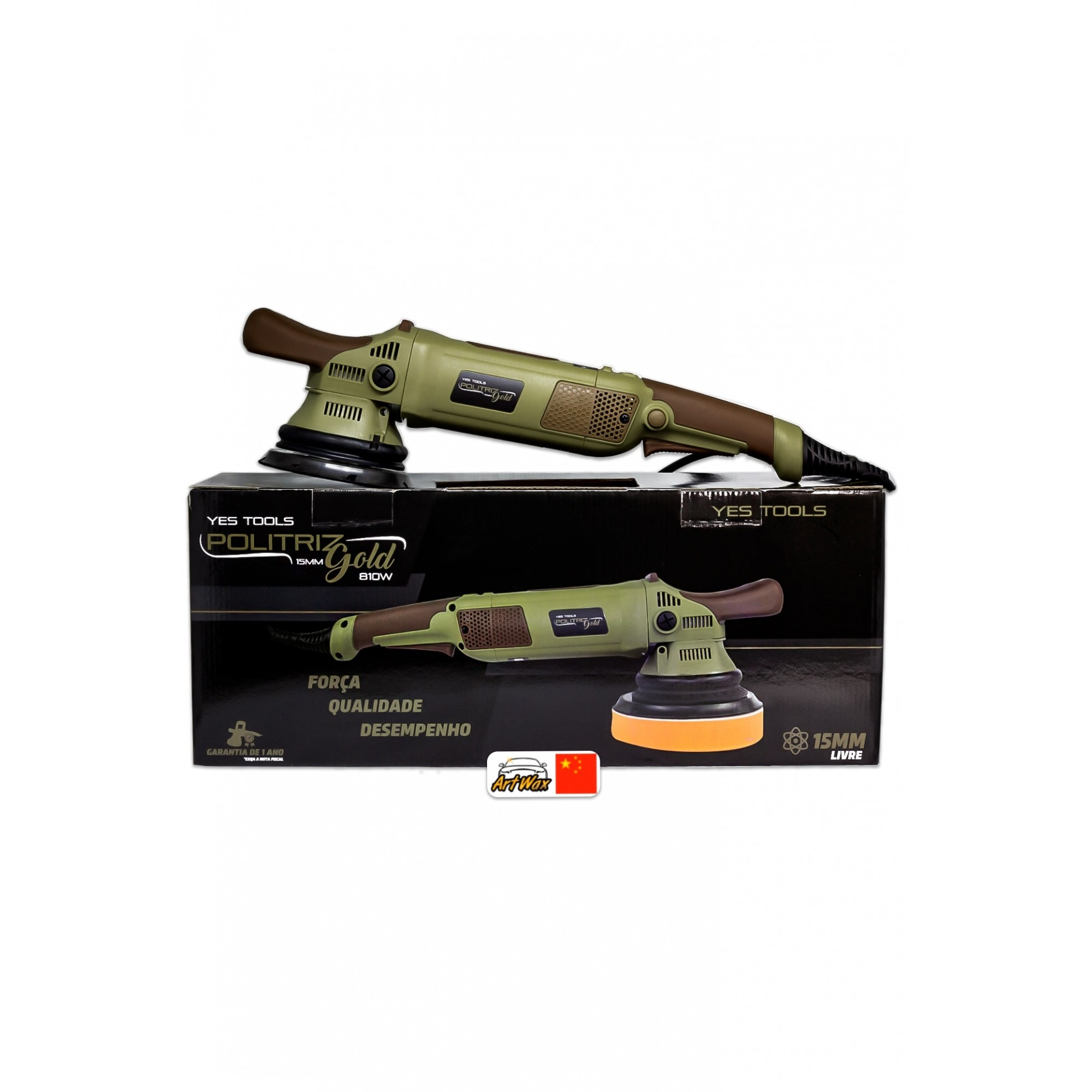Kers Yes Tools Politriz Roto Orbital livre Gold 15mm 60Hz 810W 127v