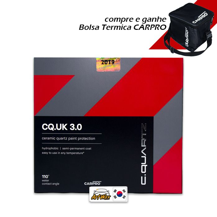 Kit Carpro CQuartz UK 3.0 50ml - Vitrificador de Pintura + Reload 100ml