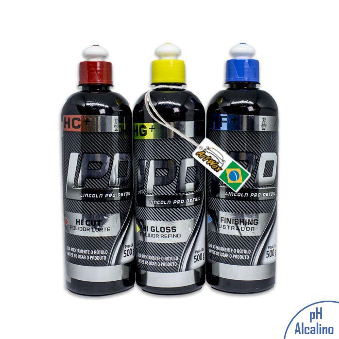 Kit Polimento LPD lincoln (Corte,Refino,Lustro) 500ml