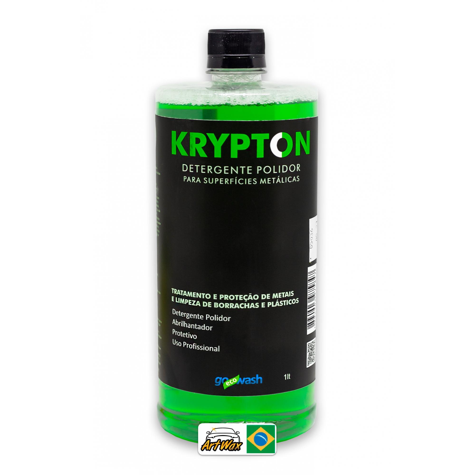 Krypton 1L - Detergente Polidor Para Metais Borrachas e Plásticos