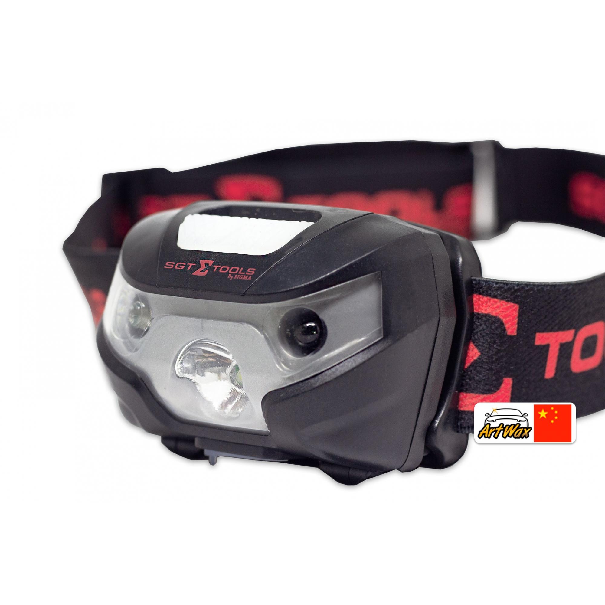 Lanterna de Cabeça Recarregável Com Sensor Liga/Desliga SGT-8510 Sigma Tools
