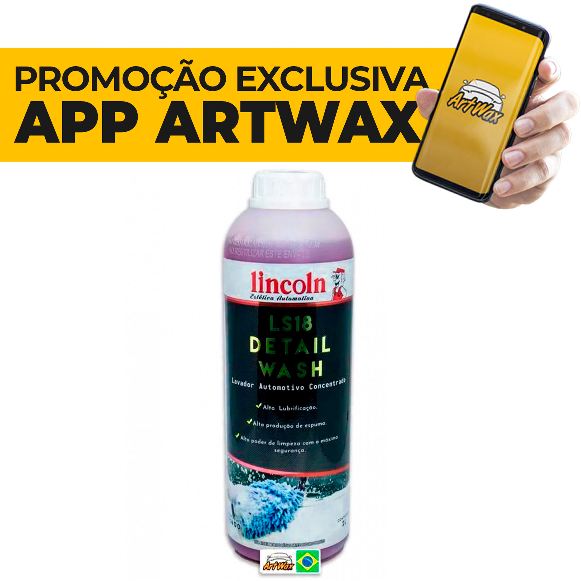 Lincoln LS18 Detail Wash Shampoo Automotivo Concentrado - 2L