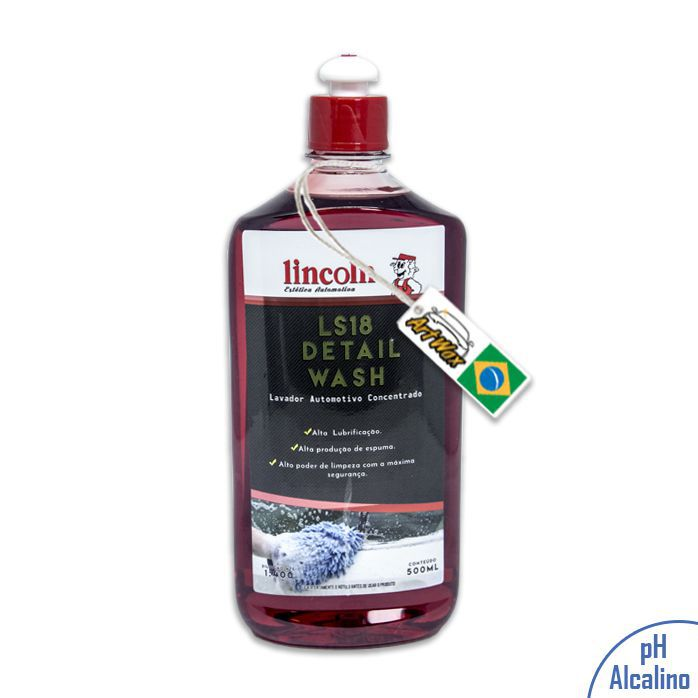 Lincoln LS18 Detail Wash Shampoo Automotivo Concentrado - 500ml