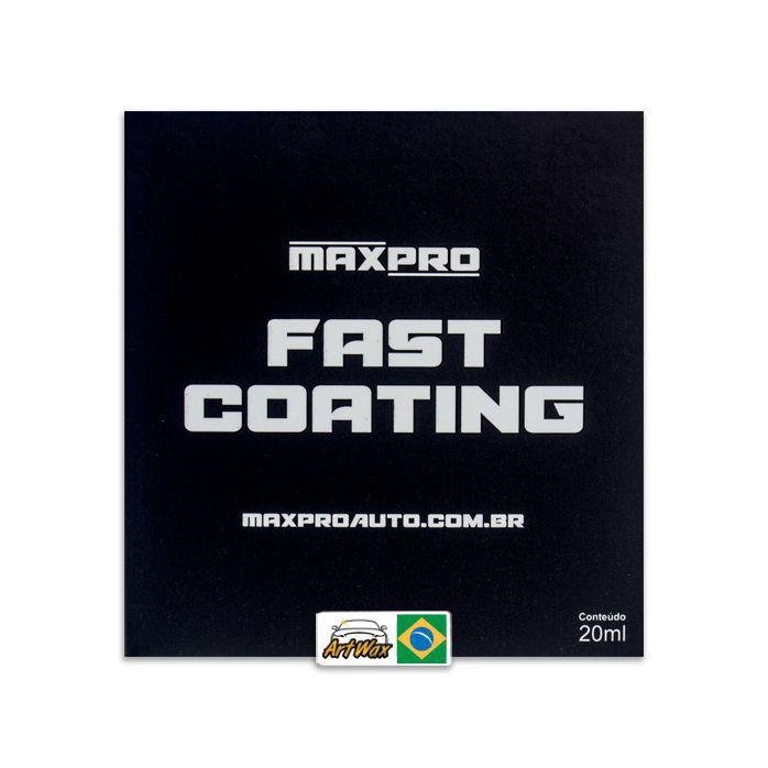 Maxpro Fast Coating - Vitrificador de Alto Rendimento 1 ano - 20ml