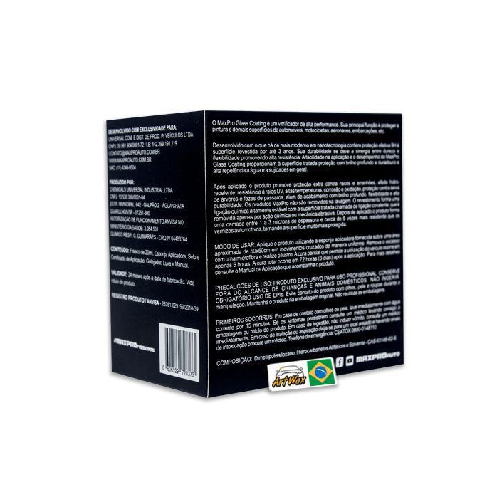 Maxpro Glass Coating 9H - Vitrificador de Alta Performance 20ml