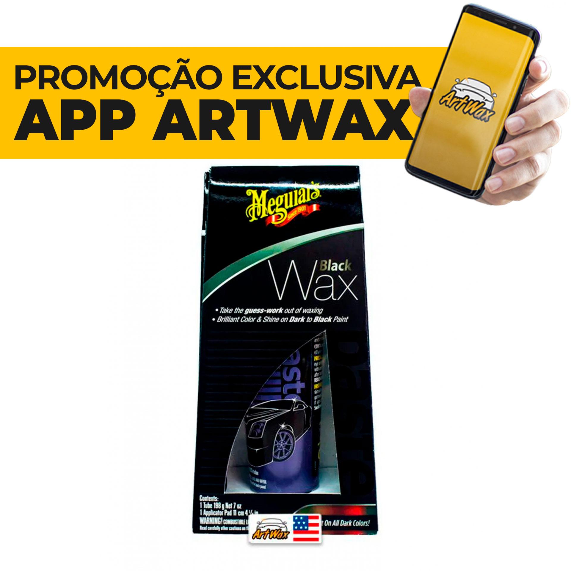 Meguiars Black Wax 198g - Cera Para Cores Escuras