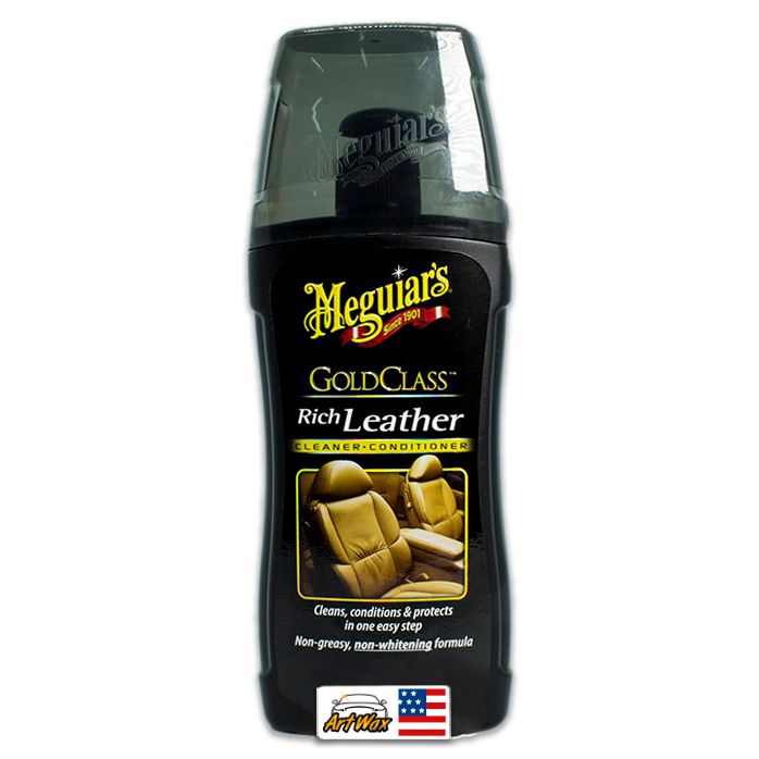 Meguiars Gold Class Rich Leather Limpa hidrata o couro 400ML