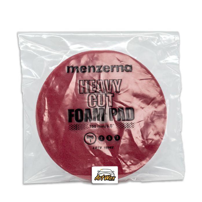 """Menzerna Boina de Espuma Vermelha Com Furo Central 5"""" Corte"""