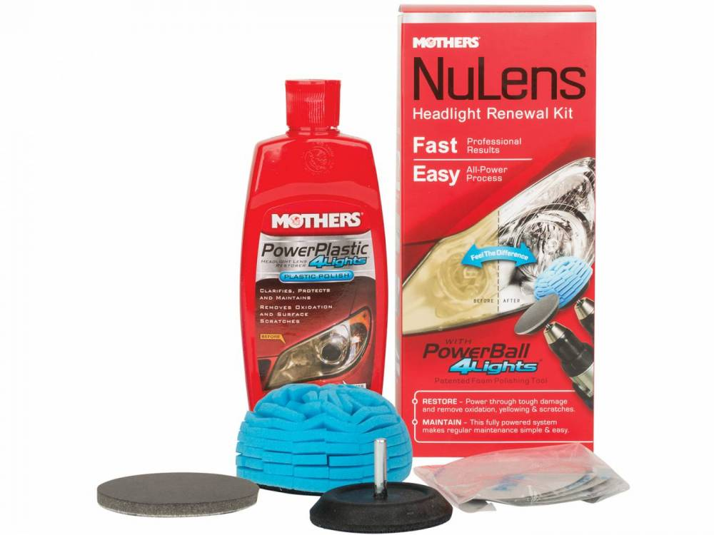 Mothers Nulens Kit Renovador de faróis com 5 produtos