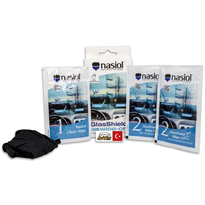NASIOL Glasshield Wipe-On Repelente de Líquidos Para Vidros 5g