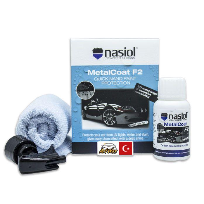 NASIOL MetalCoat F2  Nanoproteção para Pintura Metais Plásticos e Lanternas  50ml