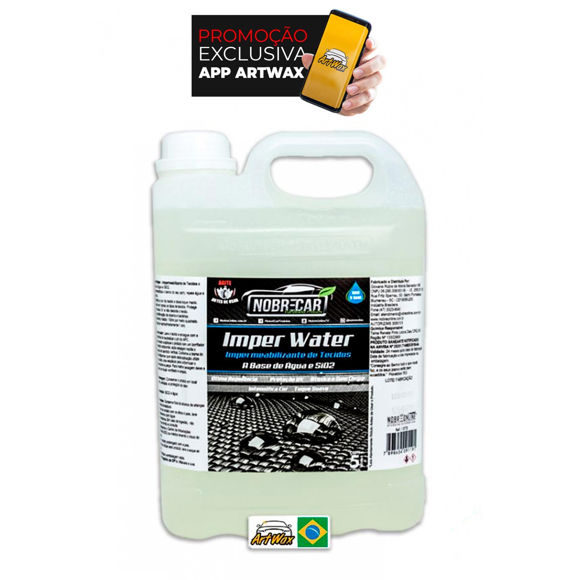 Nobre Car Imper Water 5L - Impermeabilizante de Tecidos a Base de Água e SiO2