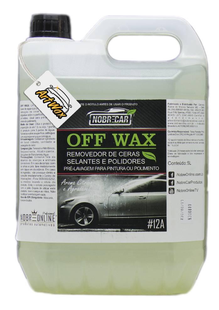 Off Wax Desengordurante e Removedor de Cera Nobre Car 5L - Concentrado