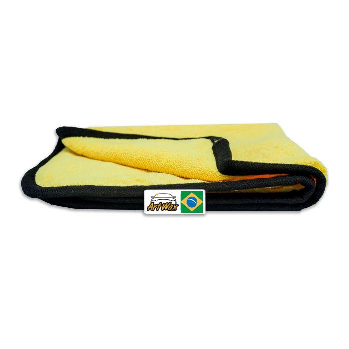 Pano de Microfibra Detailer Amarelo 38x38cm 380gsm (Cobra)