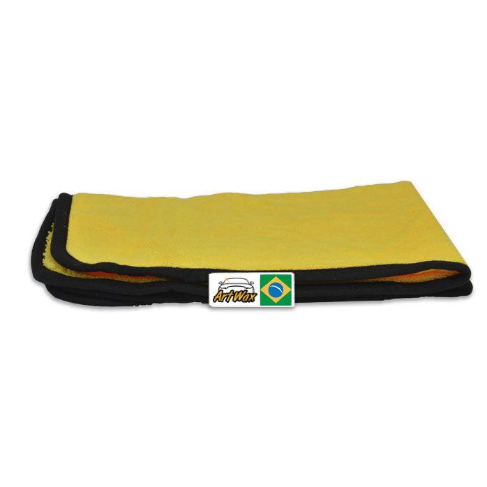 Pano de Microfibra Detailer Amarelo 40x60cm 380gsm (Cobra)