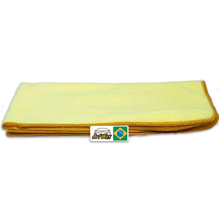 Pano de Microfibra Mandala Amarelo 37x57cm - 01un - 300gsm