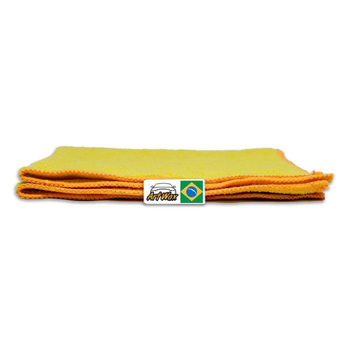 Pano de Microfibra Mandala Amarelo 38x38 cm - 300gsm
