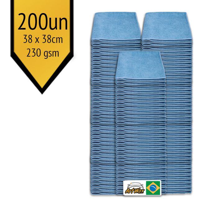 Pano de Microfibra Mandala Azul 38x38cm - 200un - 230gsm
