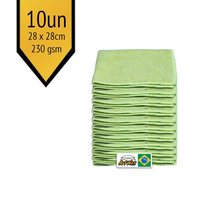 Pano de Microfibra Mandala Verde 28x28cm - 10un - 230gsm
