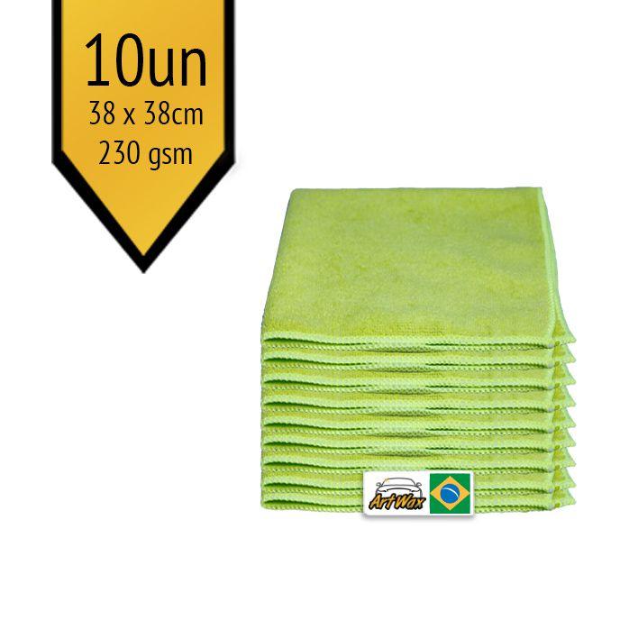Pano de Microfibra Mandala Verde 38x38cm - 10un - 230gsm