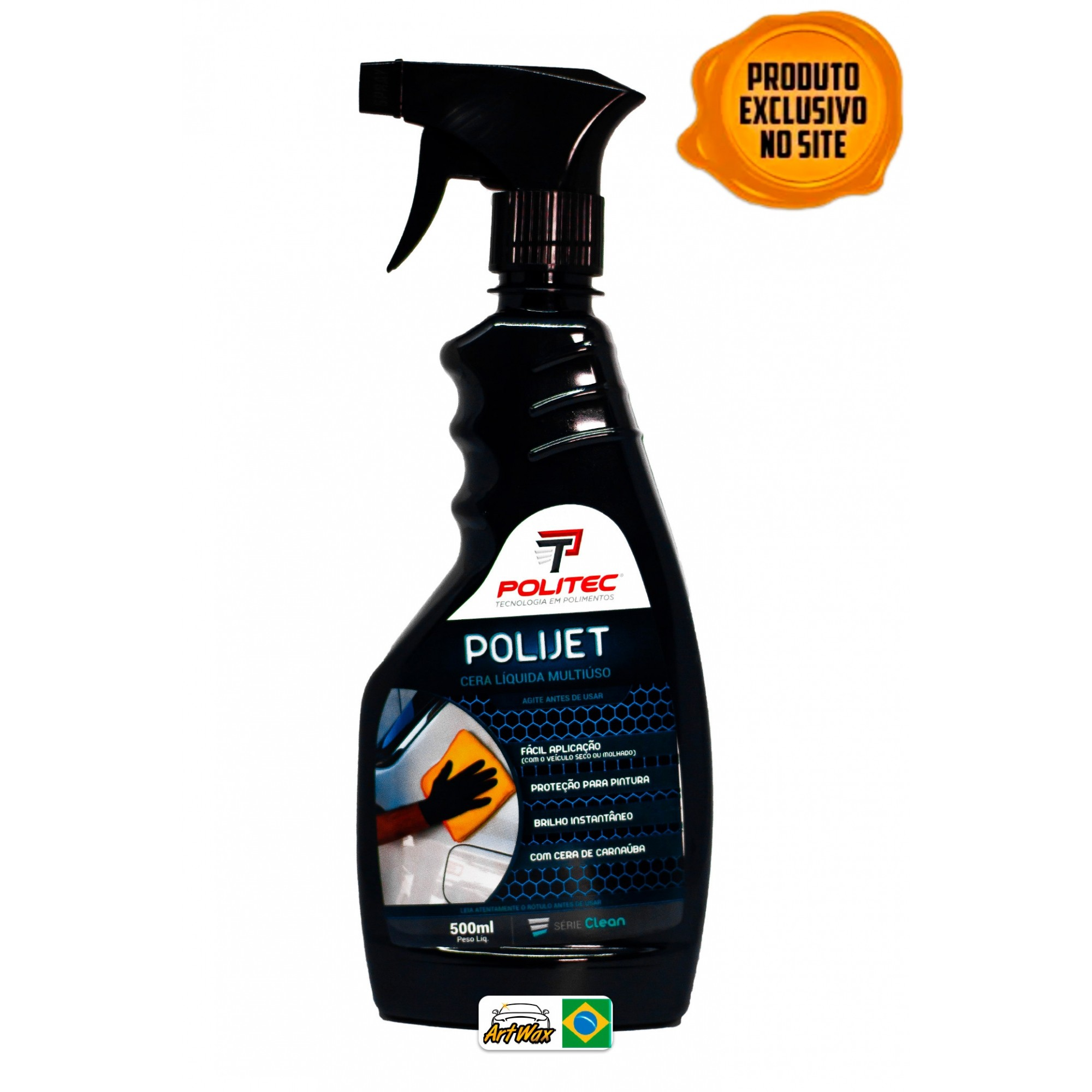 Polijet 500ml - Cera Protetora Liquida Multiuso Politec