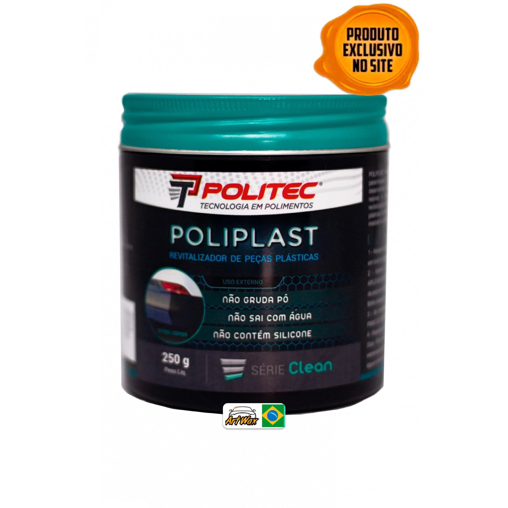 Poliplast 250g - Revitalizador de Peças Plasticas Externas Politec