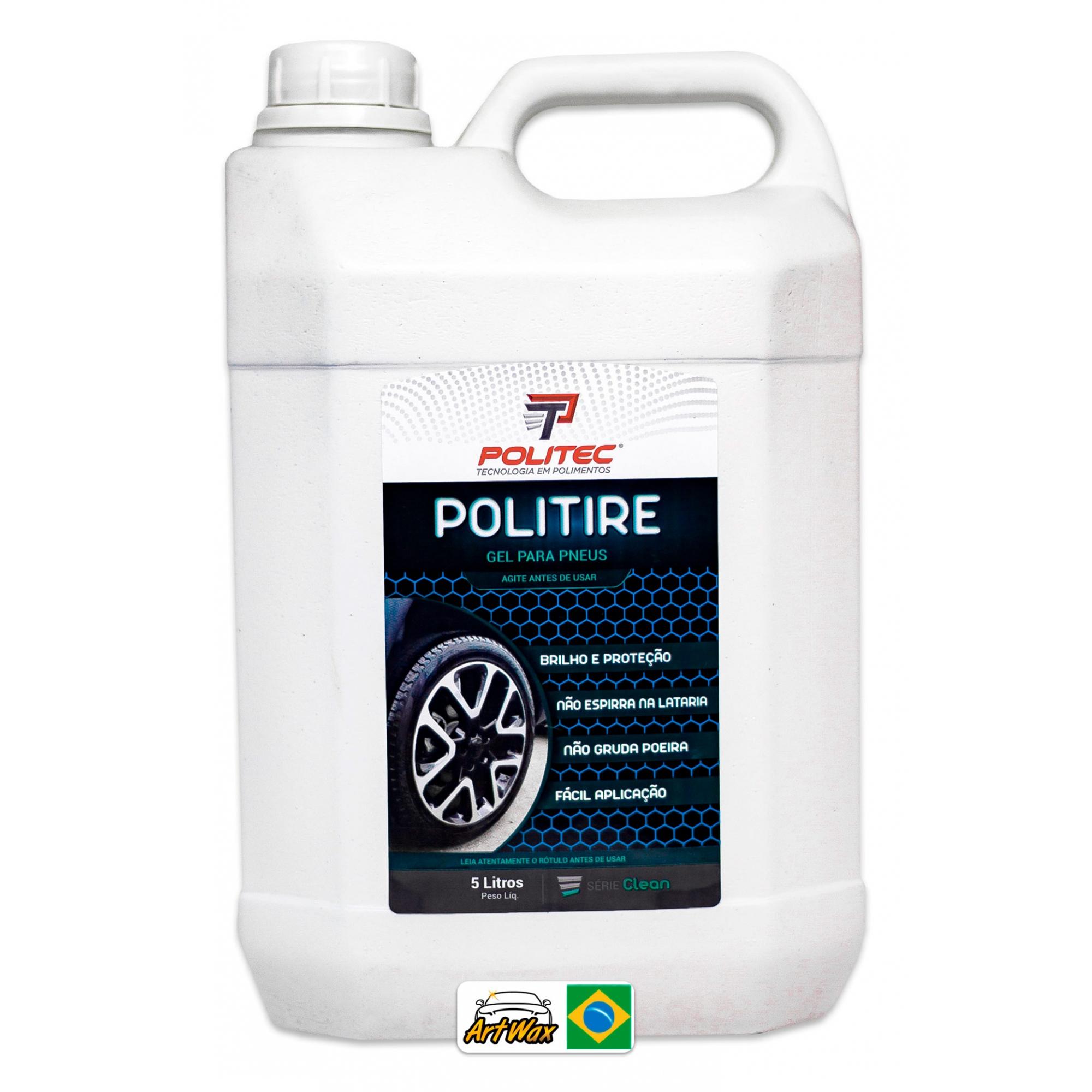 Politire 5L - Gel Para Pneu Brilho e Proteção Politec