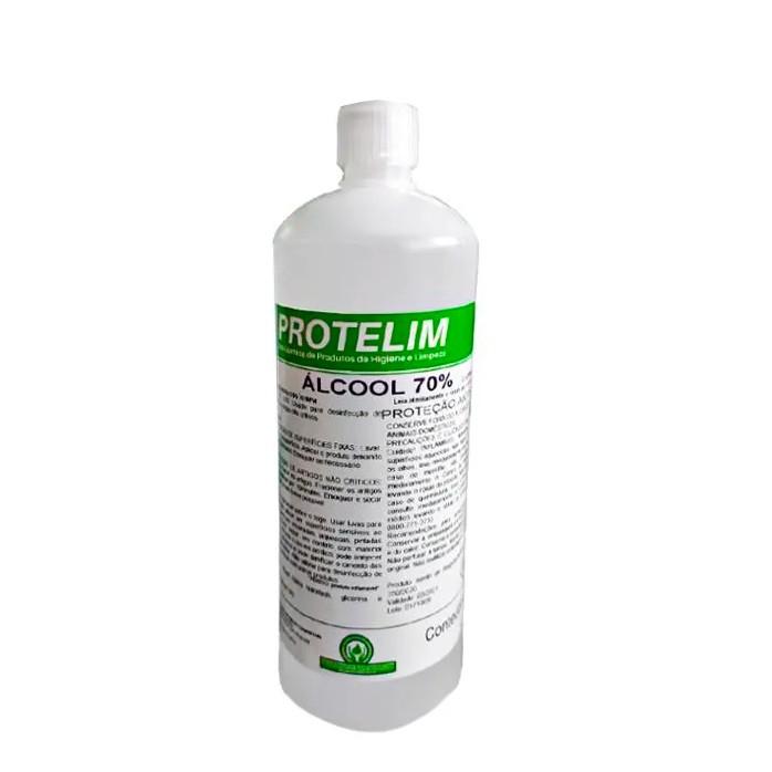 Protelim ÁLcool Liquido Spray 70%  1L - Desinfecção De Superfícies Fixas