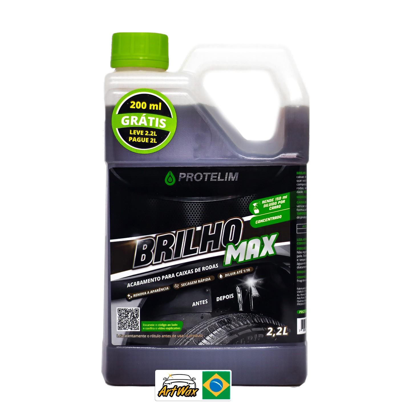 Protelim Brilho Max 2,2L - Acabamento Para Caixa de Rodas Concentrado