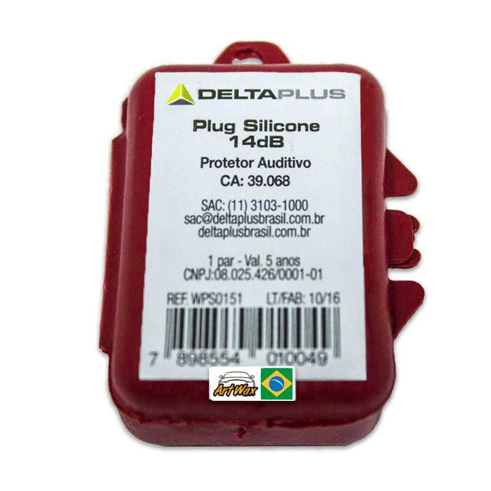 Protetor Auditivo Plug Silicone Delta Plus