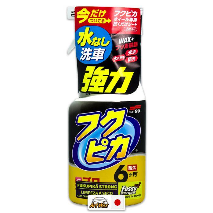 Soft99 Fukupiká Strong 400ml - Limpeza a Seco Com Cera