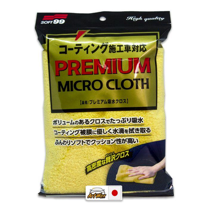 Soft99 Premium Micro Cloth - Toalha Super Microfibra 50x30cm 360gsm