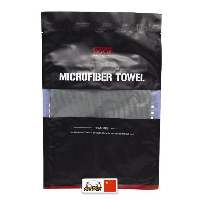 Toalha de microfibra cinza 290gsm - 40x40cm limpeza de vidros SGCB