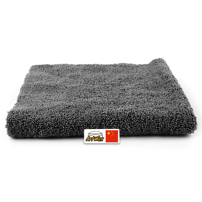 Toalha de microfibra cinza polish 380gsm - 40x40cm sgcb