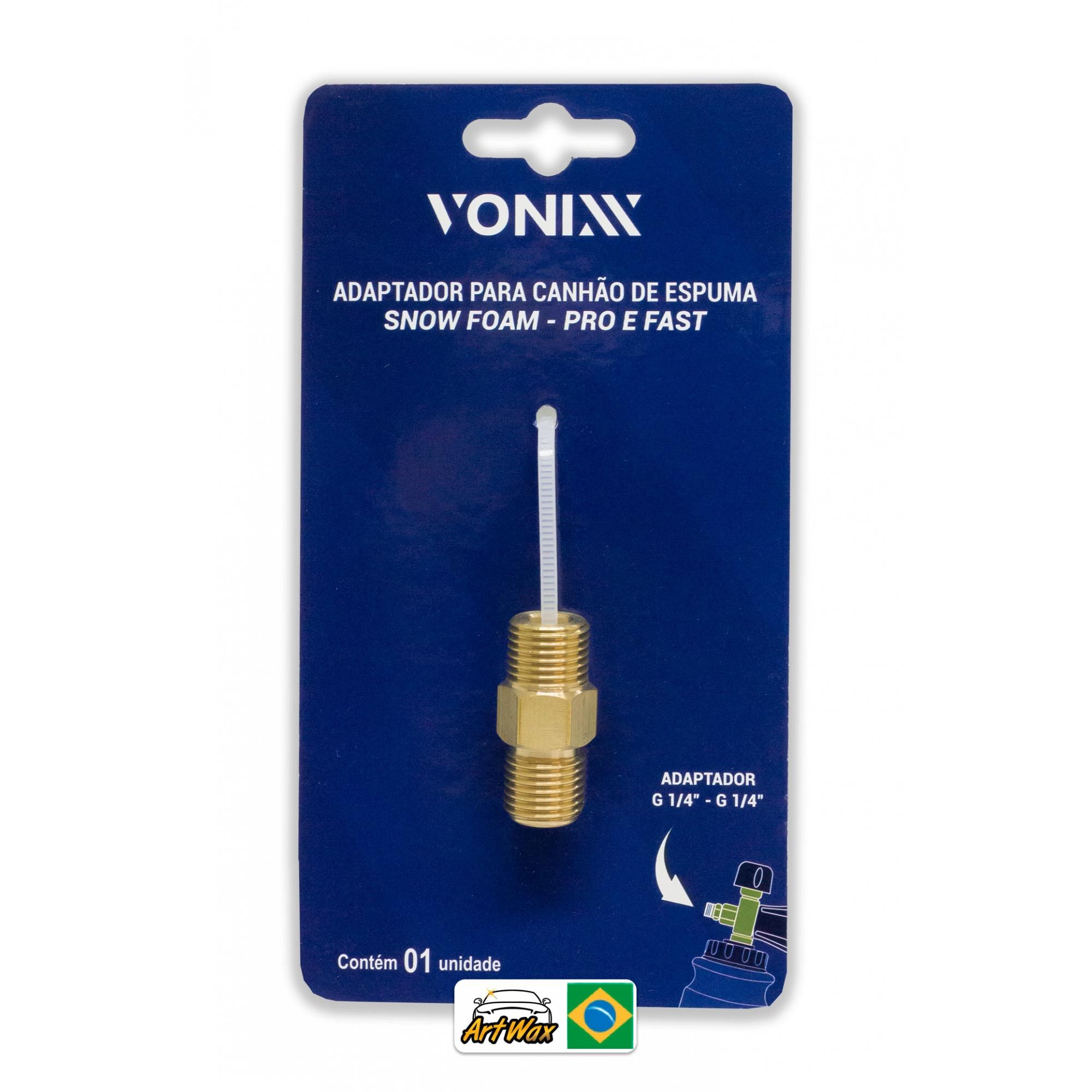 Vonixx Adaptador (Prolongador) Para Canhão de Espuma Snow Foam 1/4 Para 1/4