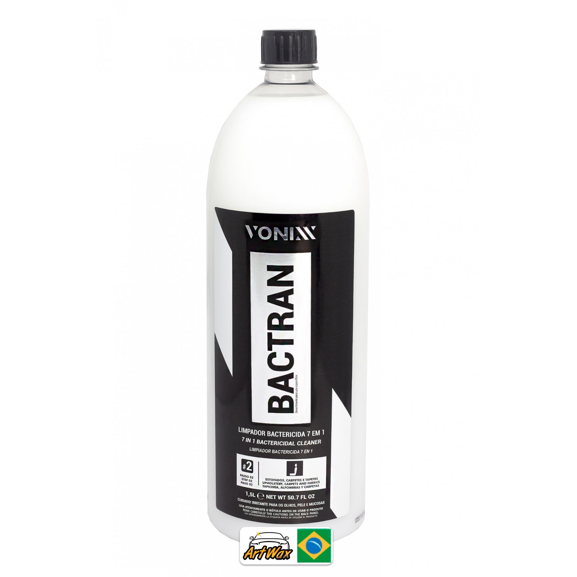 Vonixx Bactran 1,5L Concentrado - Limpador Bactericida Estofados e Carpetes = VSC 2