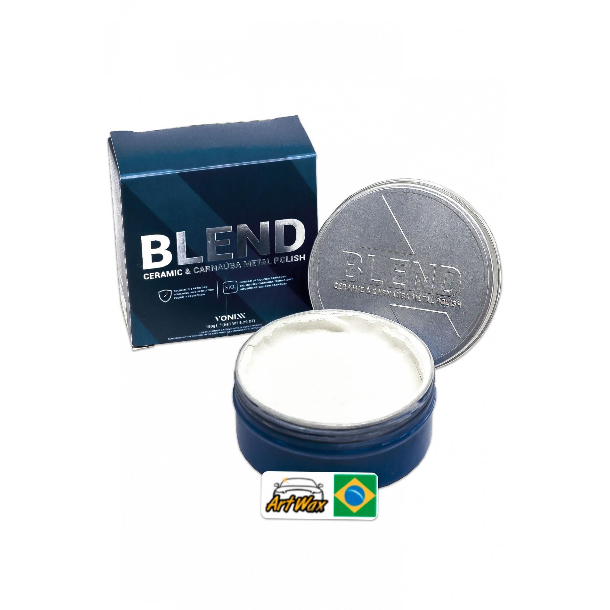 Vonixx Blend Metal Polish 150g - Polidor de Metais e Cromados Com Carnaúba e SiO2
