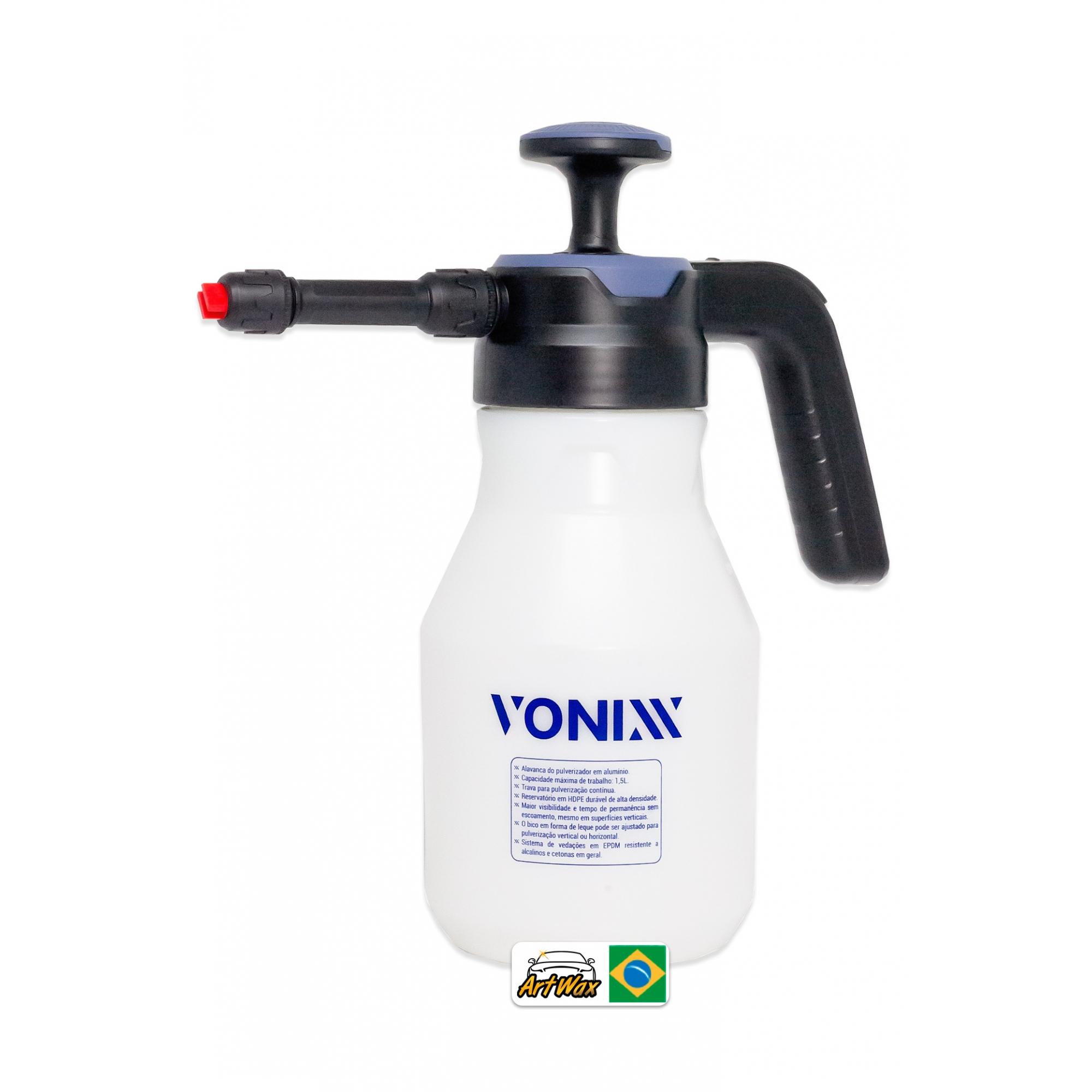 Vonixx Pulverizador Gerador de Espuma Compressão Manual 1.5L