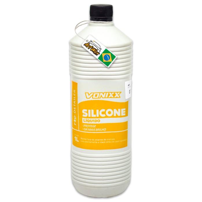 Vonixx Silicone Liquido 1L - Proteção e Brilho Plásticos e Borrachas