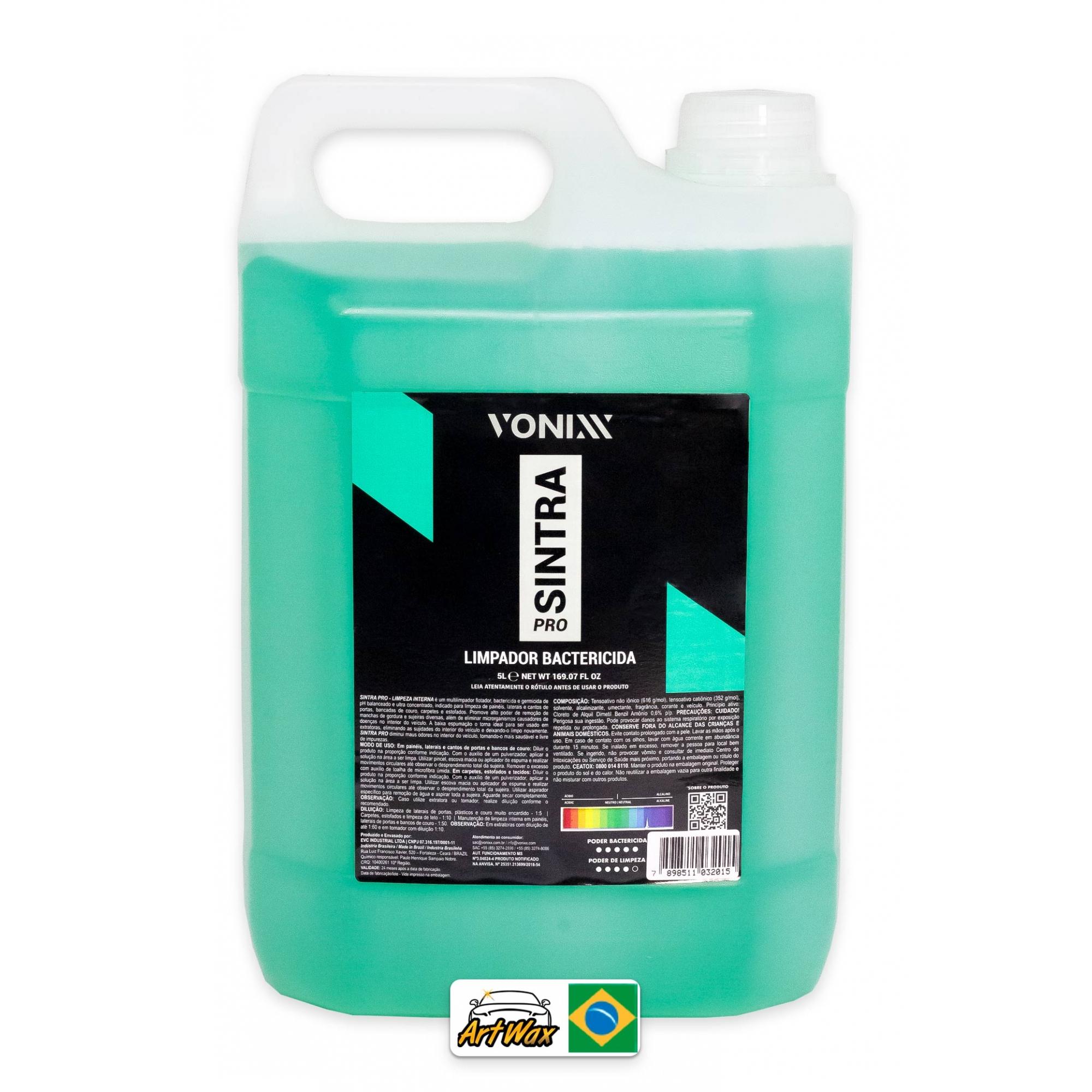 Vonixx Sintra Pro 5L - Limpador Bactericida Interno Concentrado