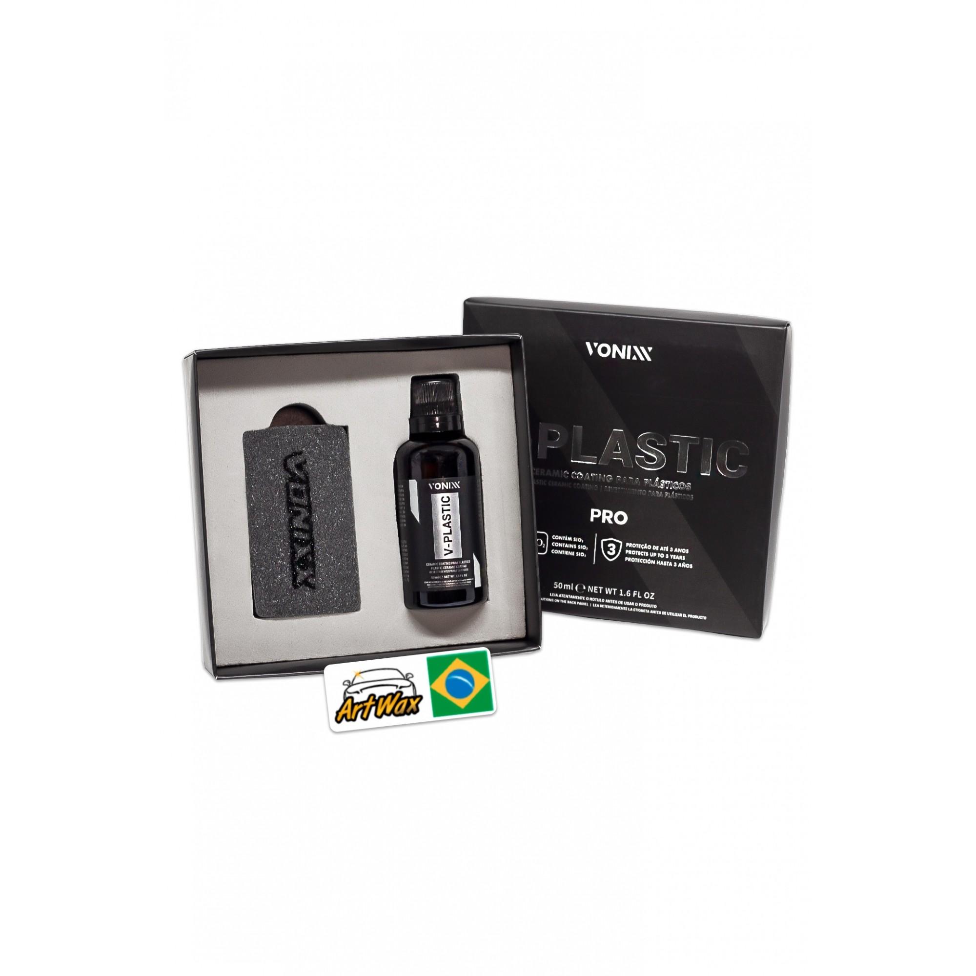 Vonixx V-Plastic Vitrificador para plástico - 50 ml - Nova Formula