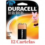 Bateria 9V MN1604 Duracell - 12  baterias