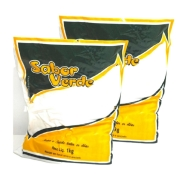 Bicarbonato de Sódio  Extra Fino   Alimentício  2 Pacotes de 1 Kg    Sabor Verde
