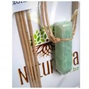 Colar de Amazonita com Ponta  c/ cordão de algodão (Perfumeira p/ Aromaterapia ou Difusor Pessoal)
