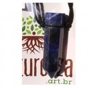 Colar de Sodalita c/ cordão de algodão ( Perfumeira para Aromaterapia ou  Difusor Pessoal)