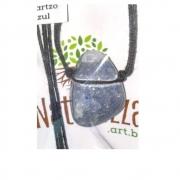 Colar Quartzo Azul  Rolada (Perfumeira p/ Aromaterapia ou  Difusor Pessoal)