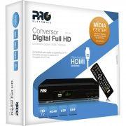 Conversor Digital FULL HD PRODT-1200 Preto Proeletronic
