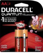Pilha Quantum AA  Duracell - Cartela com 2 Pilhas